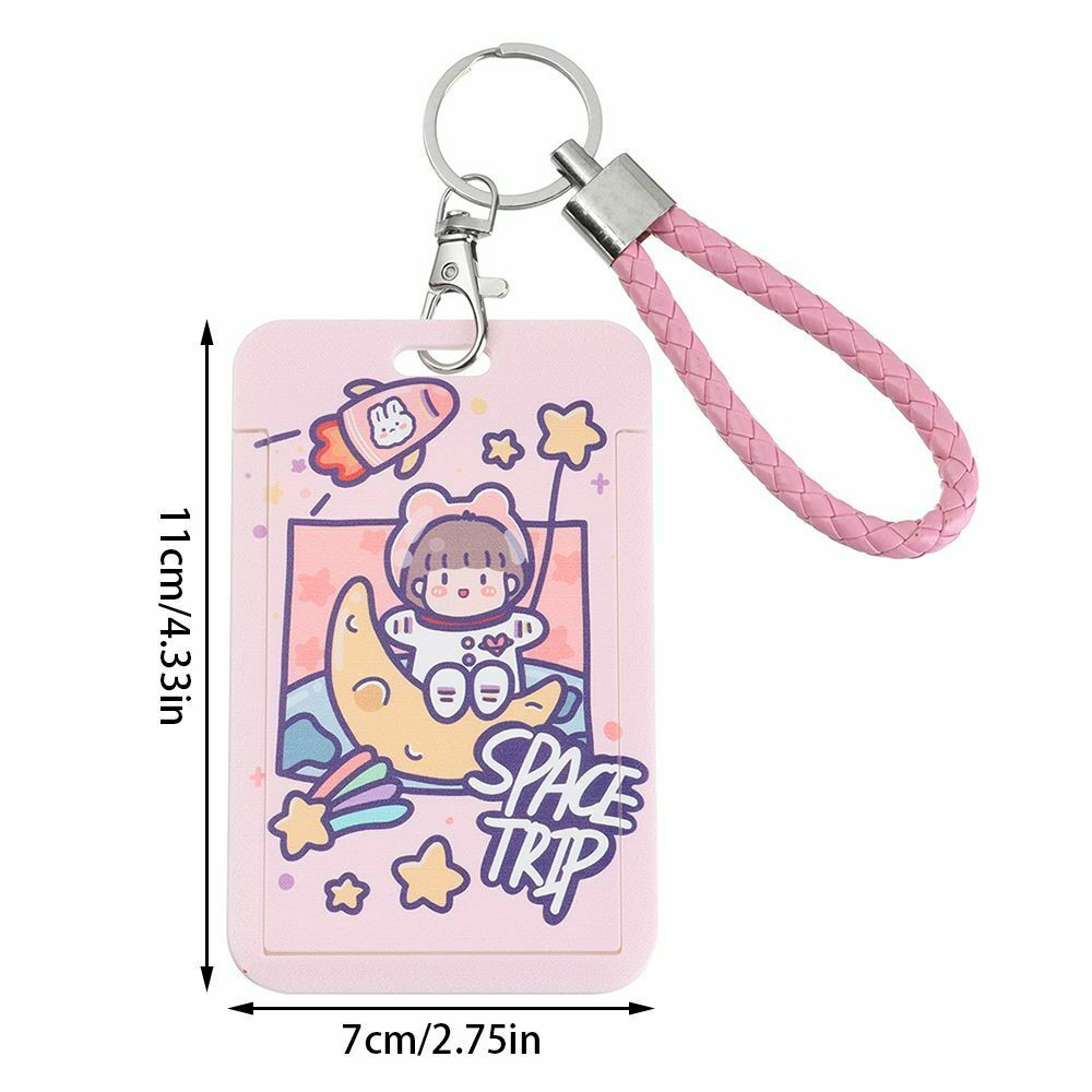 Control Keychain Astronaut Card Holder Work ID Protection Card Case Card Cover