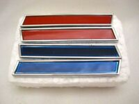 1961 Corvette Front Fender Side Bars 2 X Red & 2 X Blue 61