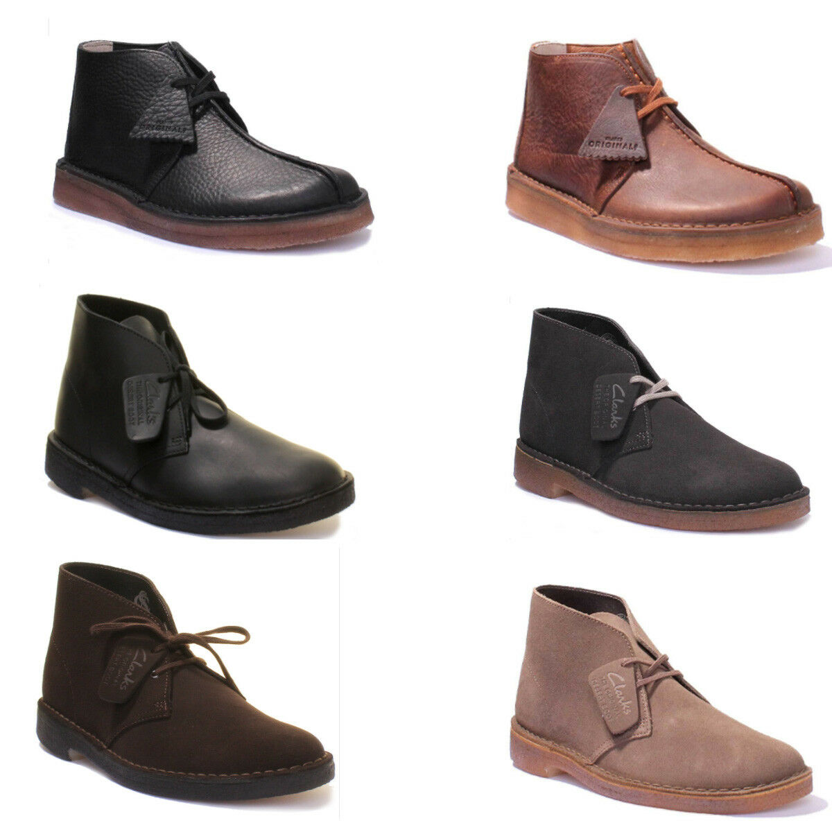 Clarks Originals Desert Trek Men Brown Suede Boots