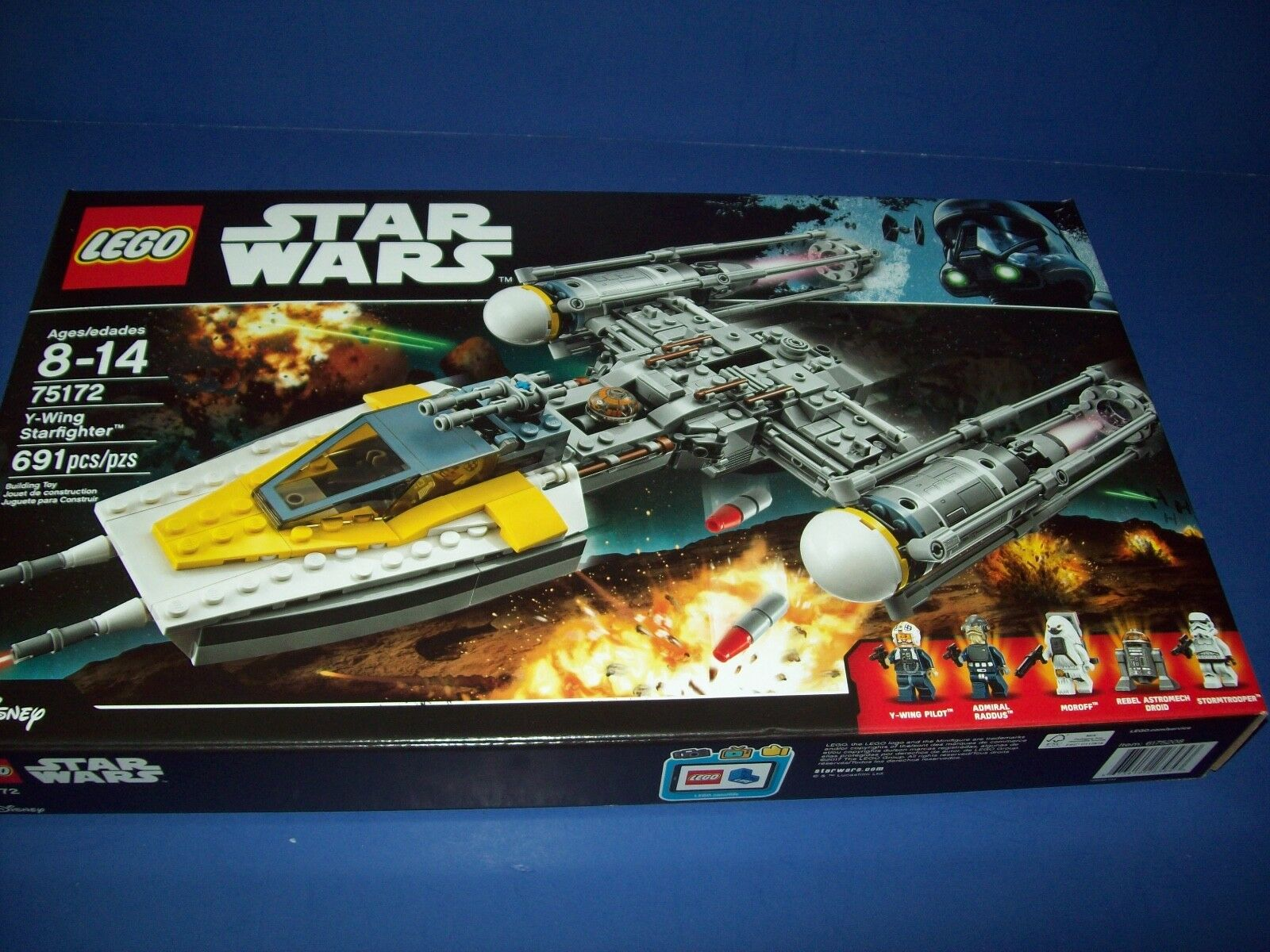 LEGO 75172 Star Wars Y-WING STARFIGHTER sealed 691 pieces 5 minifigures