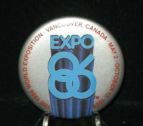 1986 World/'s Fair In Vancouver Tie Tack Two Pinbacks /& One Lapel Pin