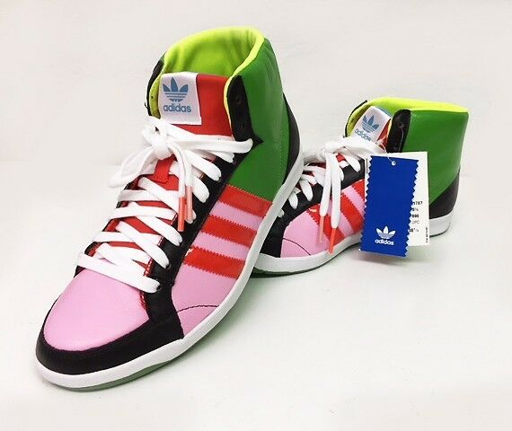 ADIDAS ORIGINALS WOMEN'S ADI HOOP MID W COURT SHOE MULTI-COLOR SIZE 7