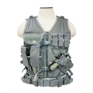 NCStar-Paintball-Airsoft-Tactical-PALS-MOLLE-Vest-Harness-XSM-SM-Digi-Camo
