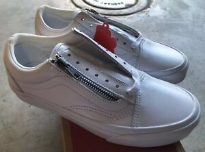 49249e6a4e436 Vans Old Skool Zip DX Smooth Leather True White Sz Mens 4   Women s ...