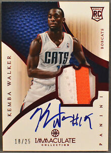 Details about 12-13 Panini Immaculate Kemba Walker NBA RC ROOKIE JERSEY  PATCH AUTO RED #18/25
