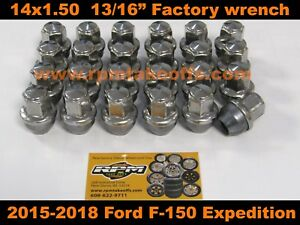 4 Ford OEM Wheel Lug Nuts 2015-2018 F-150 factory Stainless Lugs 14x1.5
