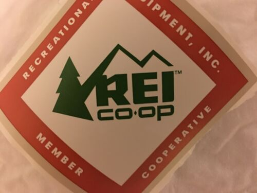 Lot of 2 NEW REI Co-op Decal Sticker MEMBER Coop Hike Outdoor Official Diamond