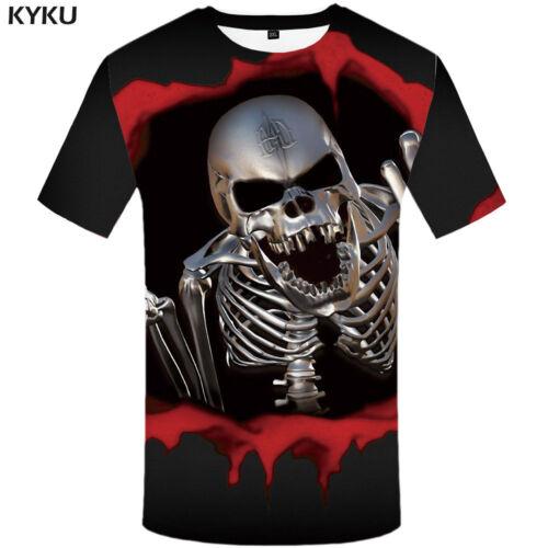 Hommes Femmes 8XL Drapeau Américain Crâne os croisés halloween vêtements T-shirts tshirts tops