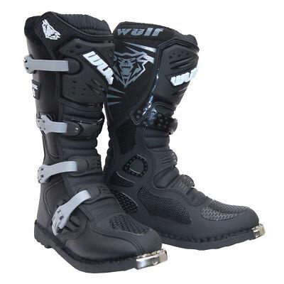Wulfsport Trackstar Motocross Boots MX Motorcross Adult Enduro Race Track Black