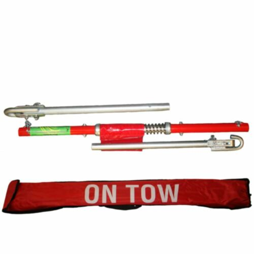2 Ton Tonne Recovery Tow Bar Towing Pole C//W Spring Loaded Damper Car Van