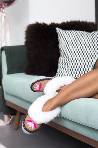 Women sen pink sheepskin Sheepers Slippers