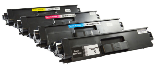 4 Toner  für Brother TN-325 TN325 HL4150CDN 4140CN 4570CDW MFC 9460CDN 9055CDN