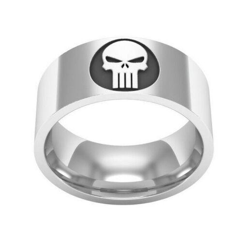 Punisher Skull Ring Titan Stahl Bikerring Totenkopf Death Head MC