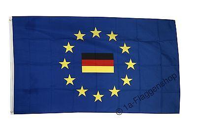 Fahne Flagge Europäische Union EU mit Deutschland - 90 x 150 cm Hissflagge