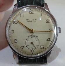 28) Buren Grand Prix mécanique vintage, calibre Buren 381 15 rubis antichoc 1955