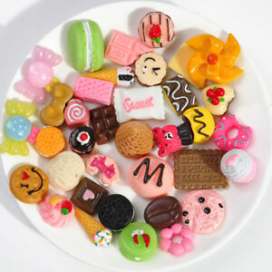 10x-Mini-Lovely-Fast-Food-Donuts-Bread-Rilakkuma-Resin-Toy-Collection-Gift