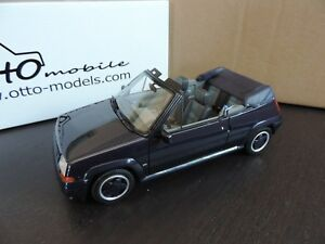 Cabriolet Bleue Renault 5 Gt Turbo R5 Gtt 1/18 Otto Ottomobile Ottomodels