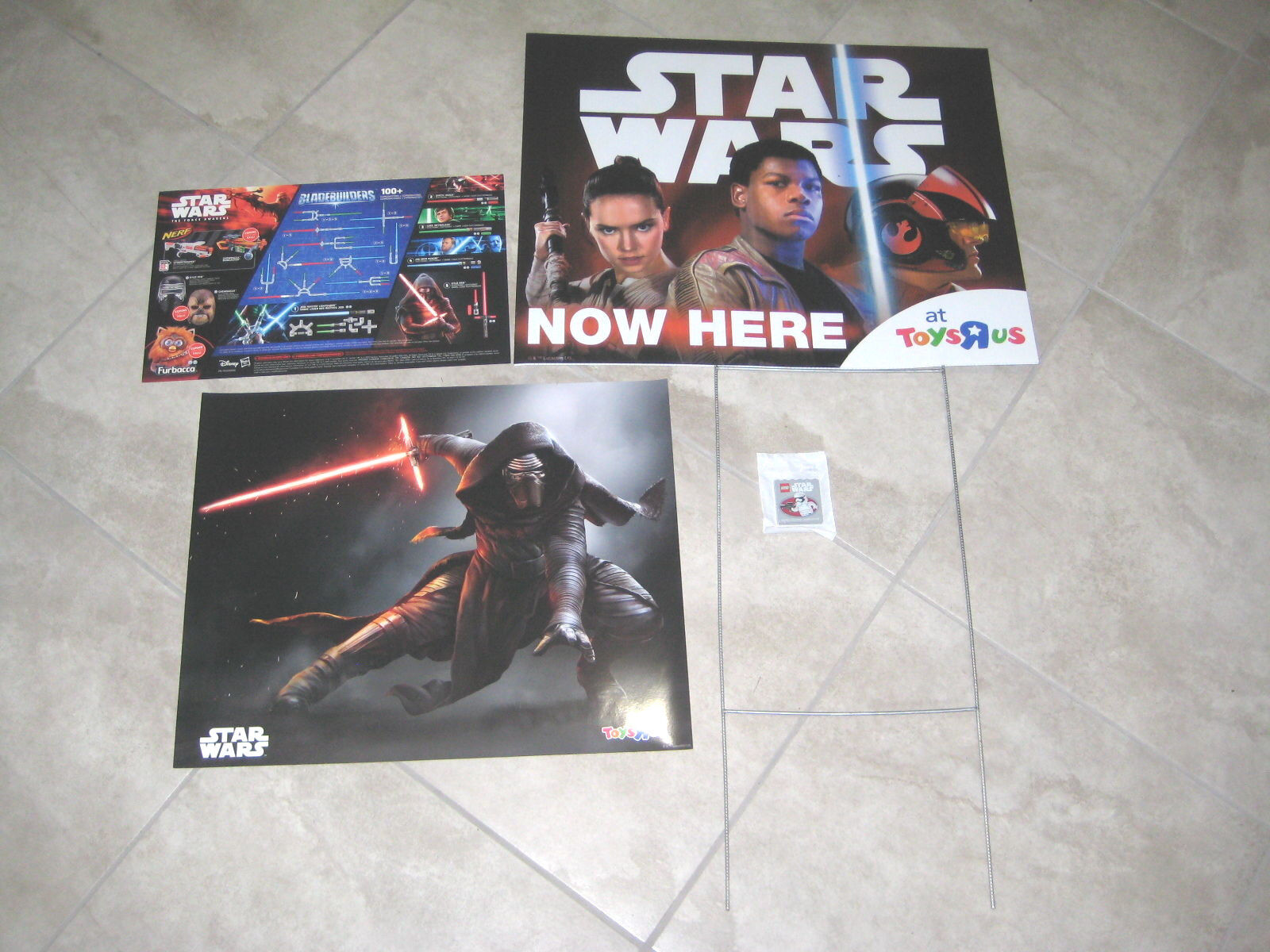 Star Wars The Force Awakens ToysRUs FORCE FRIDAY Store Poster Lego SIGN LOT of 4