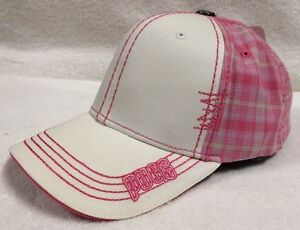 Pugs Gear Women s Premium Baseball Hat Cap Pink Plaid NEW Stylish ... 29b8da00b