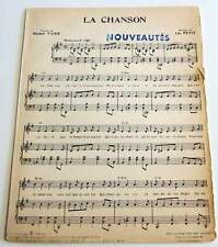 Partition vintage sheet music MICHEL TAIEB : La Chanson * 60's LAURENT
