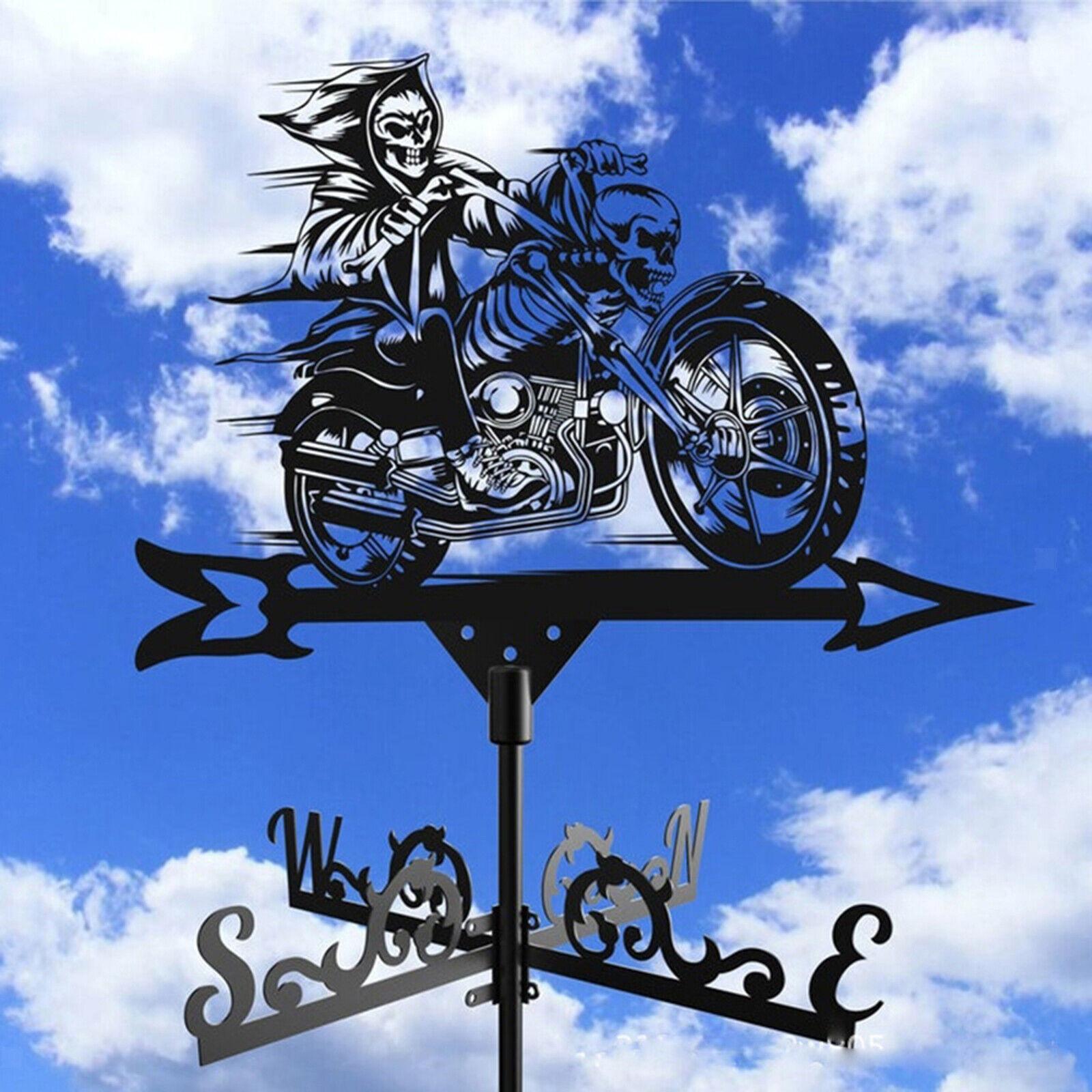 Weathervane Grim Reaper Weather Vane Garden Stake Wind Patio Yard Decoration