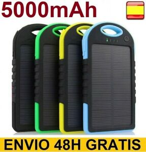 Cargador bateria externa solar 5000 MAH para movil tablet power...