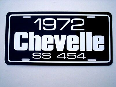 1972 Chevrolet CHEVELLE SS 454 Chevy Super Sport license plate car tag BIG BLOCK