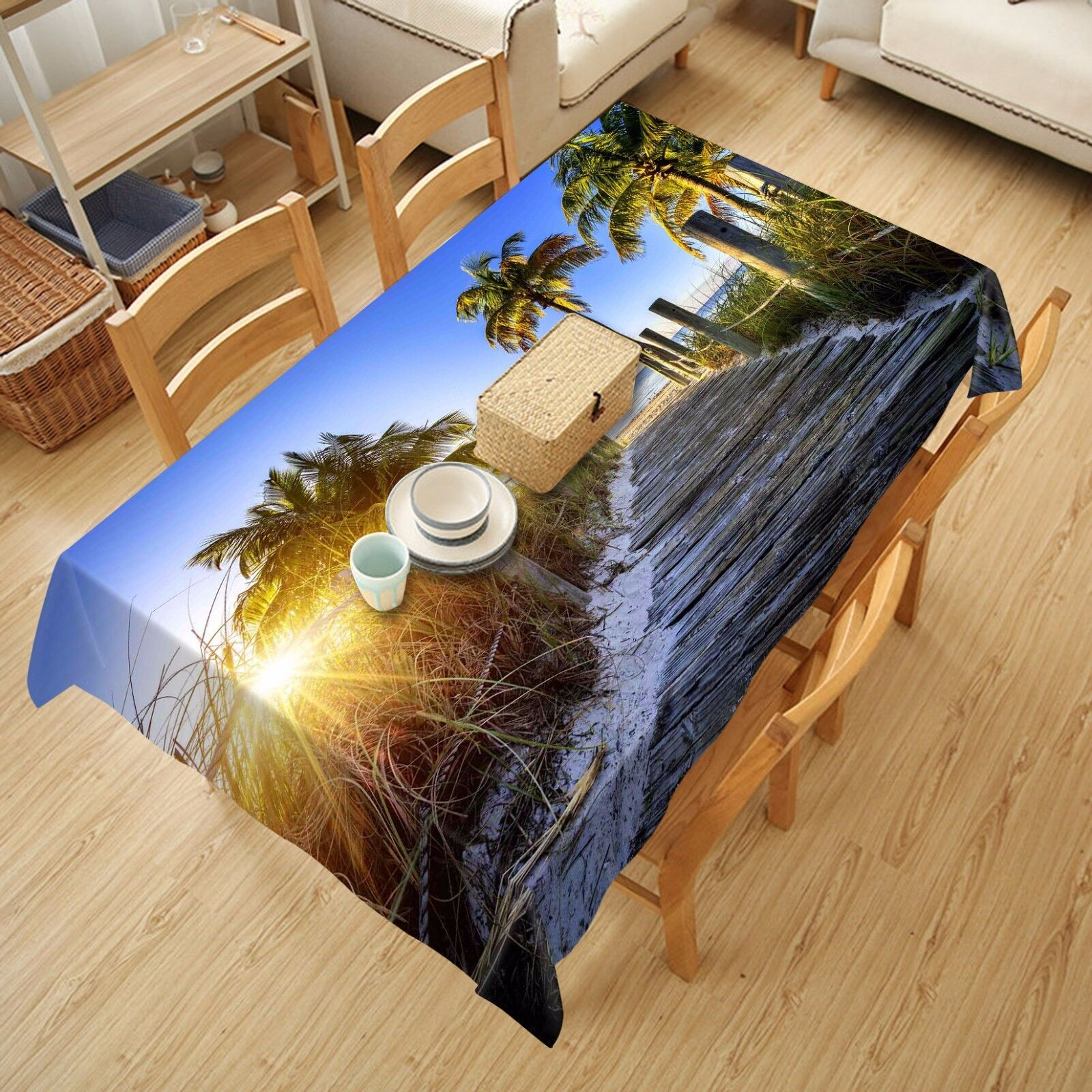 3D Tree path86 Tablecloth Table Cover Cloth Birthday Party Event AJ WALLPAPER UK