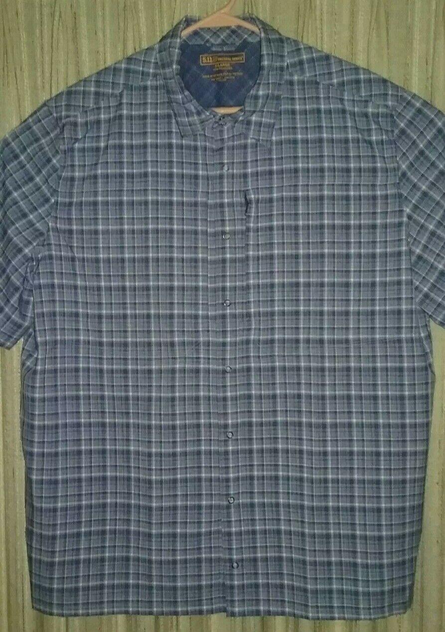 EUC 5.11 Tactical Series XL Short Sleeve Shirt RN 109614