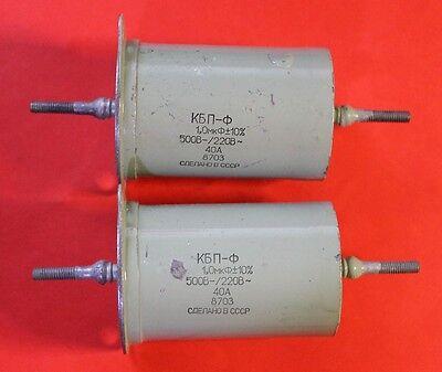 1uF 500V PIO Paper Capacitor MBGCH.// МБГЧ-1//Lot of 4pcs.