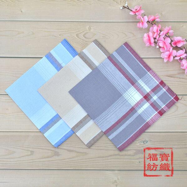 100% Cotton Handkerchiefs Striped Hanky Pocket Square Men Women Soft New 40*40CM