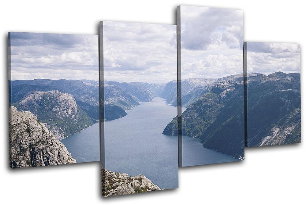 Canyon Valley River Landscapes MULTI MULTI MULTI TELA parete arte foto stampa 28036c