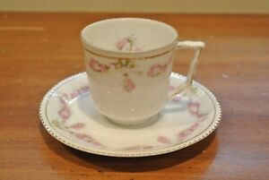 Vintage Hohenzollern H&Co Germany Demitasse Cup and Saucer