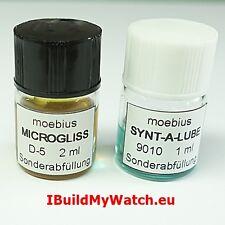 Set Moebius Öl Oil Synt-A-Lub 9010 1ml + Microgliss D-5 2ml Special Size Filling