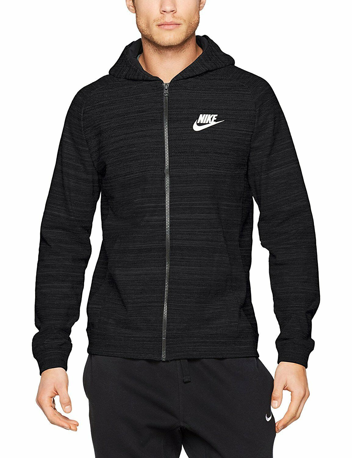 Advance Black Swoosh Sportswear Knit 15 Full Men's Zip Warm Nike w6UqCaw