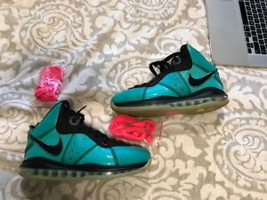 timeless design c10e5 4d6bb Image is loading Nike-Lebron-8-South-Beach-Og-Retro-Pe-
