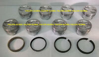 Chevy 350/5.7l Sealed Power Cast Dish Top Pistons+cast Rings Kit +30