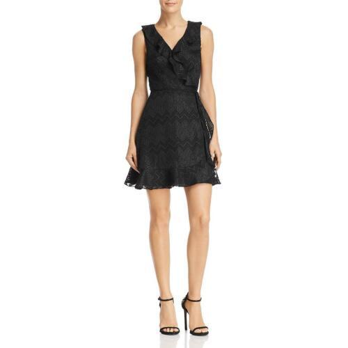 WAYF Womens Maddie Ruffled Mini Party Wrap Dress BHFO 0262