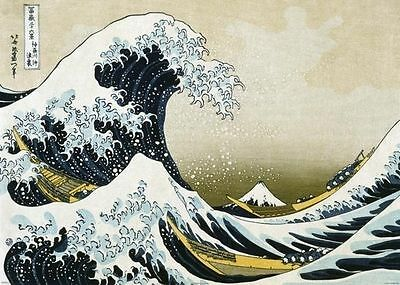 THE GREAT WAVE OFF KANAGAWA GIANT POSTER (100x140cm) HOKUSAI OCEAN SURF PICTURE