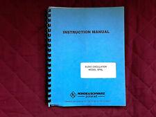 Rhode Amp Schwarz Polarad Audio Osc Model Spnl Instruction Service Manual Jul 86