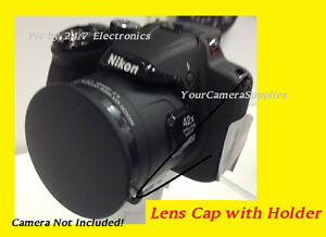 SLIP-ON-FRONT-LENS-CAP-DIRECTLY-TO-CAMERA-NIKON-COOLPIX-P510-P-510-HOLDER