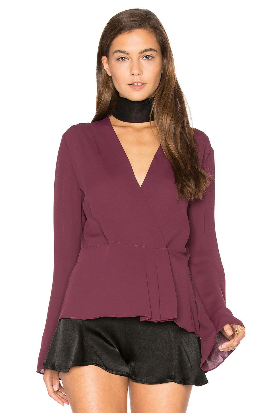 ELIZABETH AND JAMES Layla Shiraz Blouse Top Größe M NWT