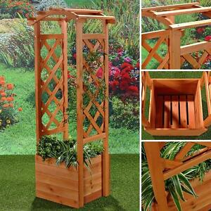rankhilfe pflanzkasten mit rosenbogen pergola spalier rosens ule holz garten ebay. Black Bedroom Furniture Sets. Home Design Ideas