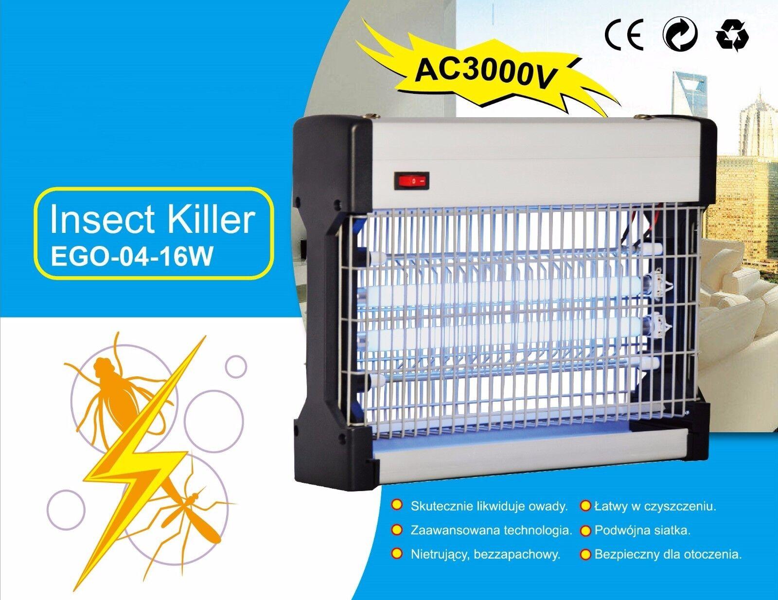 Insektenlampe Fliegenvernichter Insektenkiller Fliegenfänger Flyaway Schutz 16W