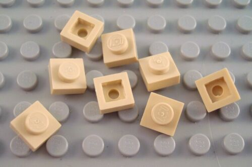 LEGO Lot of 8 Tan 1x1 Plate Building Parts and Pieces