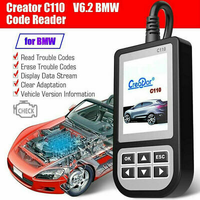 Creator C110 Code Reader C110 V6.2 OBD2 ABS//SRS Fault Trouble Code Scanner Reader Multi-System Scan Tool Auto Diagnostic Tool for BMW