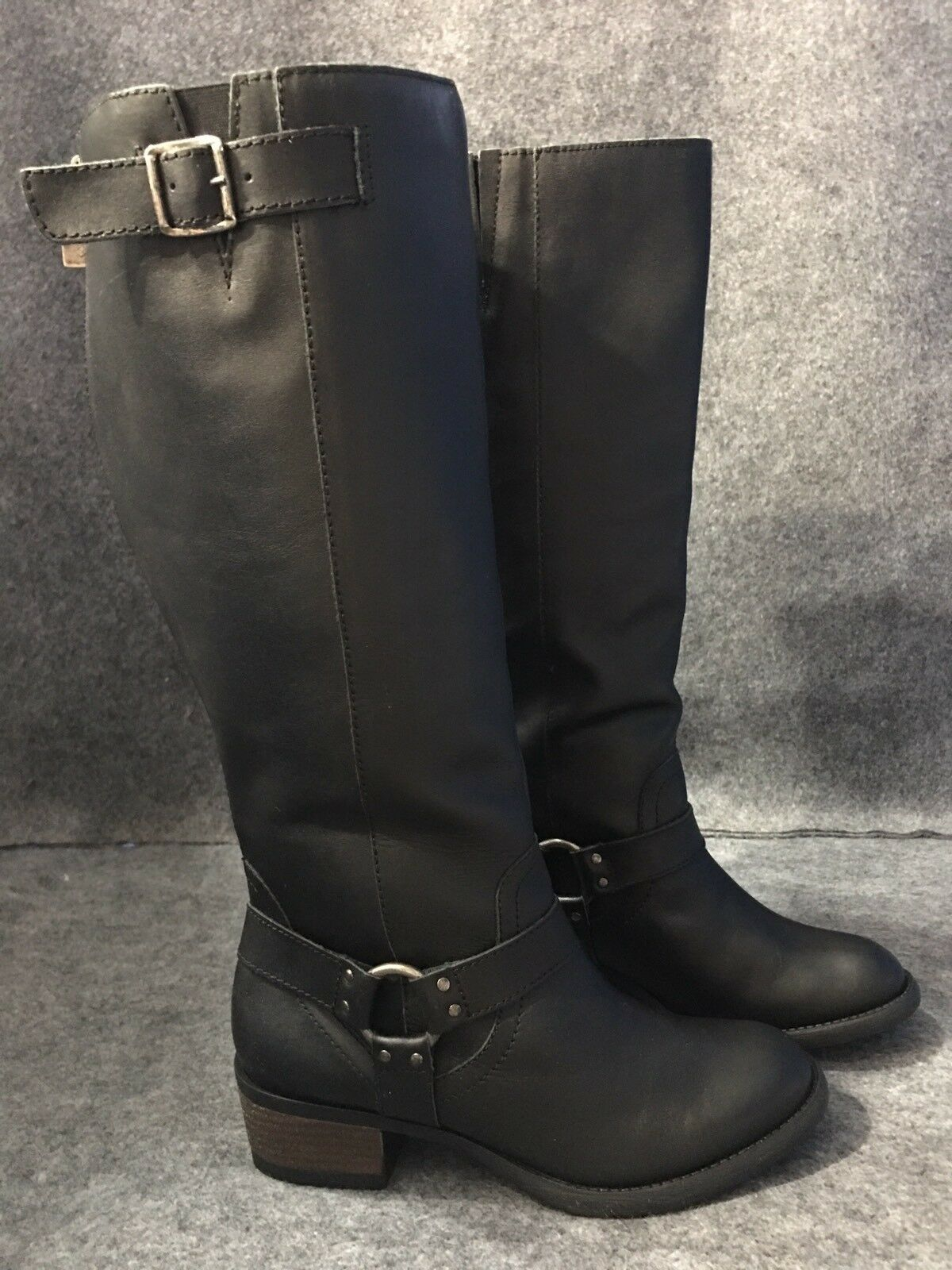 LANE BRYANT SIENNA LEATHER HARNESS RIDING BOOTS Wide Width Calf Choose Your Size