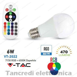 Lampadina-led-V-TAC-6W-E27-RGB-bianco-naturale-4000K-VT-2022-A60-telecomando