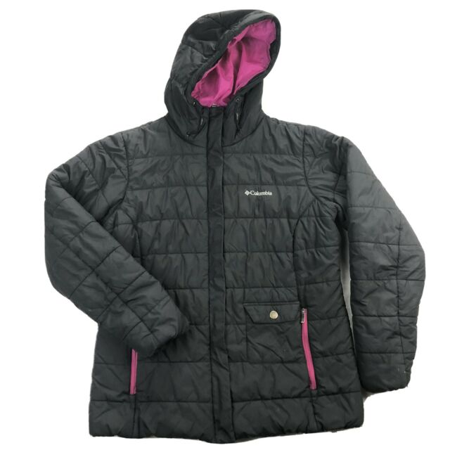 Columbia Snow Eclipse Womens Large Black Full Zip Hooded ...