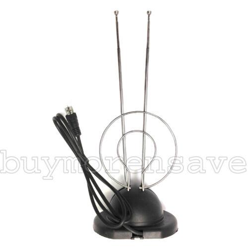 Digital Box TV Antenna W Base HDTV UHF VHF Color Reception Universal Rabbit Ear